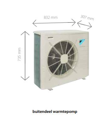 daikin altherma hybride lucht water warmtepomp 5 kw warmtepomp cv ketel kopen incl. Black Bedroom Furniture Sets. Home Design Ideas