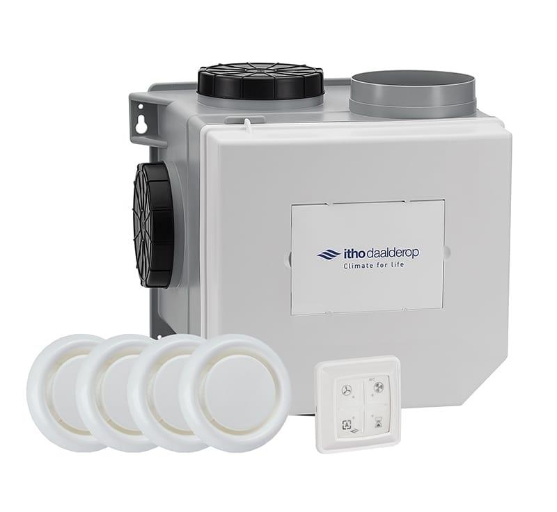 Itho daalderop - Ventilatiebox CVE-S Eco Alles-in-1 ventilatie pakket (Woonhuisventilator) - Capaciteit 375 m3/h