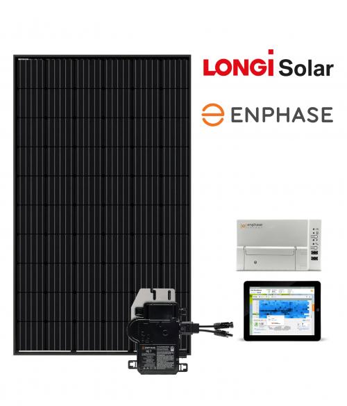 8 zonnepanelen inclusief montage - LONGi Solar (300 Wp) - Enphase Micro omvormers