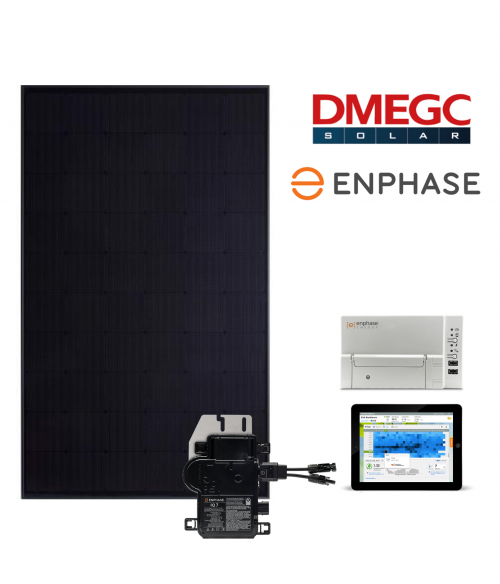16 zonnepanelen set DEMGC ULTRA BLACK (300 Wp) - Enphase | 4800 Wp - 4560 kWh