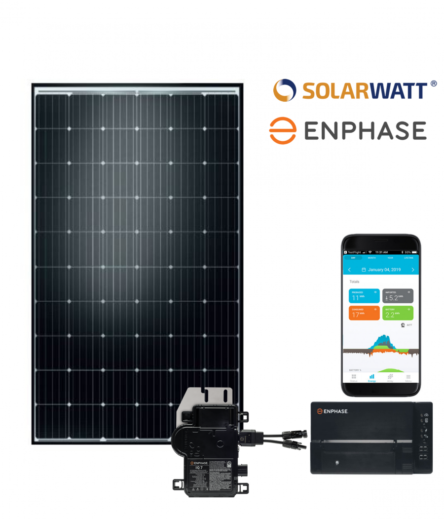 Solarwatt zonnepanelen - 12 Zonnepanelen Set