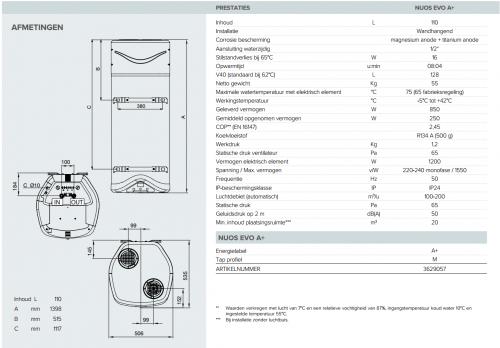 Ariston - Nuos Evo A+ | Warmtepompboiler