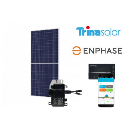 14 zonnepanelen set Trina Solar - Glas Glas - 400Wp - Enphase Micro Omvormers | 5600 Wp - 5300 kWh